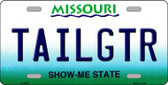 Tailgtr Missouri Novelty Wholesale Metal License Plate