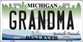 Grandma Michigan Wholesale Novelty License Plate LP-11694
