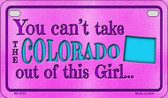Colorado Girl Wholesale Motorcycle License Plate MP-9797