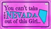 Nevada Girl Wholesale Motorcycle License Plate MP-9819