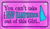 New Hampshire Girl Wholesale Motorcycle License Plate MP-9820