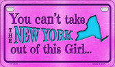 New York Girl Wholesale Motorcycle License Plate MP-9823