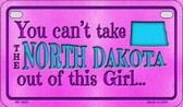 North Dakota Girl Wholesale Motorcycle License Plate MP-9825