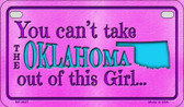 Oklahoma Girl Wholesale Motorcycle License Plate MP-9827
