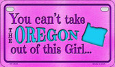 Oregon Girl Wholesale Motorcycle License Plate MP-9828