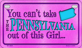Pennsylvania Girl Wholesale Motorcycle License Plate MP-9829