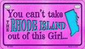 Rhode Island Girl Wholesale Motorcycle License Plate MP-9830