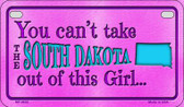 South Dakota Girl Wholesale Motorcycle License Plate MP-9832