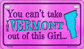 Vermont Girl Wholesale Motorcycle License Plate MP-9836