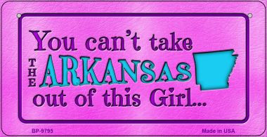 Arkansas Girl Wholesale Bicycle License Plate BP-9795