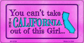 California Girl Wholesale Bicycle License Plate BP-9796