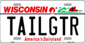 Tailgtr Wisconsin Novelty Wholesale Metal License Plate
