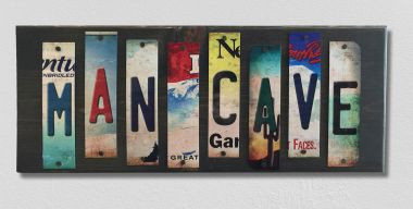 Man Cave License Plate Strip Wholesale Wood Sign WS-004