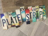 Novelty Wholesale Cut License Plate Strips (104 Strips) LPS-PACK-10