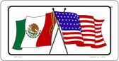 Mexico / USA Flag Wholesale Novelty Bicycle Plate BP-532