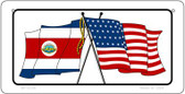 Costa Rica / USA Flag Wholesale Novelty Bicycle Plate BP-5126
