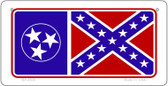 Tenn / Confederate Flag Wholesale Novelty Bicycle Plate BP-8536