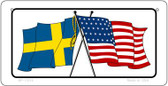 Sweden / USA Flag Wholesale Novelty Bicycle Plate BP-11514