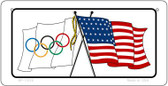 Olympic / USA Flag Wholesale Novelty Bicycle Plate BP-11519