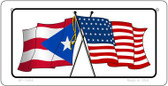 Puerto Rico / USA Flag Wholesale Novelty Bicycle Plate BP-11454