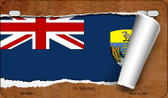 St. Helena Flag Scroll Wholesale Novelty Motorcycle Plate MP-9290