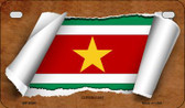 Suriname Flag Scroll Wholesale Novelty Motorcycle Plate MP-9294