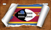 Swaziland Flag Scroll Wholesale Novelty Motorcycle Plate MP-9295