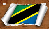 Tanzania Flag Scroll Wholesale Novelty Motorcycle Plate MP-9299