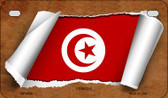 Tunisia Flag Scroll Wholesale Novelty Motorcycle Plate MP-9302