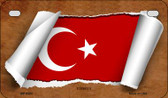 Turkey Flag Scroll Wholesale Novelty Motorcycle Plate MP-9303
