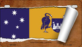 Australian Capital Flag Scroll Wholesale Novelty Motorcycle Plate MP-9326