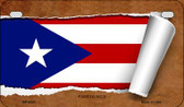 Puerto Rico Flag Scroll Wholesale Novelty Motorcycle Plate MP-9331