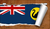 West Australia Flag Scroll Wholesale Novelty Motorcycle Plate MP-9334
