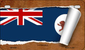 Tasmania Flag Scroll Wholesale Novelty Motorcycle Plate MP-9336