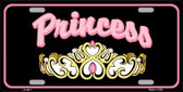 Princess Tiara Wholesale Metal Novelty License Plate LP-3871