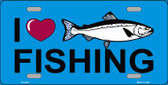 I Love Fishing Wholesale Metal Novelty License Plate LP-3872