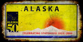 Alaska Rusty Blank Background Wholesale Novelty Bicycle Plate BP-8119