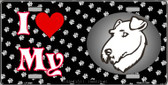 I Love My Airedale Terrier Wholesale Metal Novelty License Plate