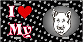 I Love My Akita Wholesale Metal Novelty License Plate LP-3887