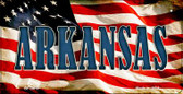Arkansas US Flag Wholesale Novelty Bicycle Plate BP-3615