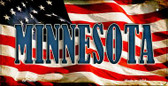 Minnesota US Flag Wholesale Novelty Bicycle Plate BP-3634