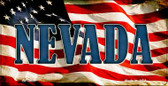Nevada US Flag Wholesale Novelty Bicycle Plate BP-3639