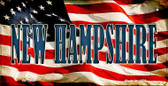 New Hampshire US Flag Wholesale Novelty Bicycle Plate BP-3640