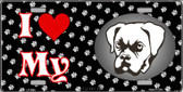 I Love My Boxer Wholesale Metal Novelty License Plate LP-3894