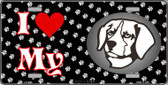 I Love My Brittany Wholesale Metal Novelty License Plate LP-3895