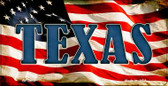 Texas US Flag Wholesale Novelty Bicycle Plate BP-3654