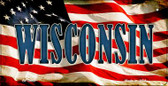Wisconsin US Flag Wholesale Novelty Bicycle Plate BP-3660