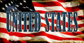 United States US Flag Wholesale Novelty Bicycle Plate BP-3662