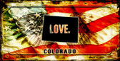 Colorado Love & Wings Wholesale Novelty Bicycle Plate BP-8592