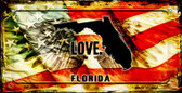 Florida Love & Wings Wholesale Novelty Bicycle Plate BP-8595